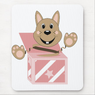 Skrunchkin Rabbit Fudge In Pink Box Mouse Pad