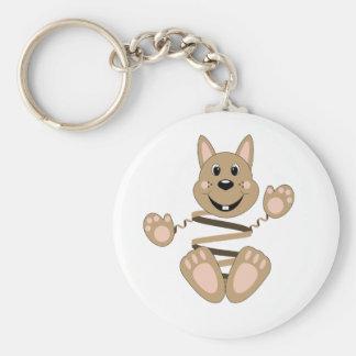 Skrunchkin Rabbit Fudge Basic Round Button Keychain