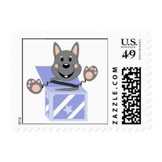 Skrunchkin Rabbit Kasper In Blue Box Stamps