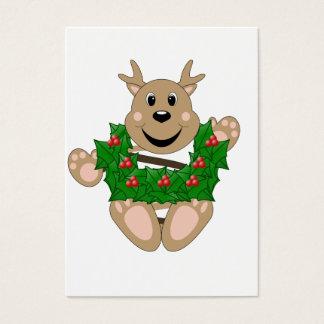 Skrunchkin Reindeer With Wreath Business Card