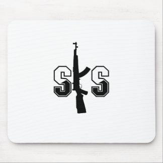 SKS Assault Rifle Logo Black Mouse Pad
