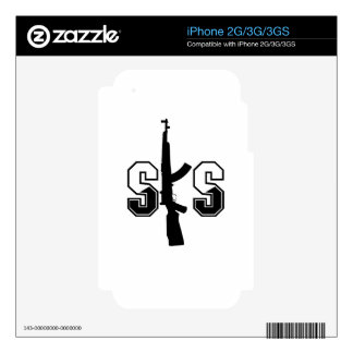 SKS Assault Rifle Logo Black Skin For The iPhone 3