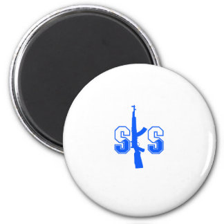 SKS Assault Rifle Logo Blue.png 2 Inch Round Magnet