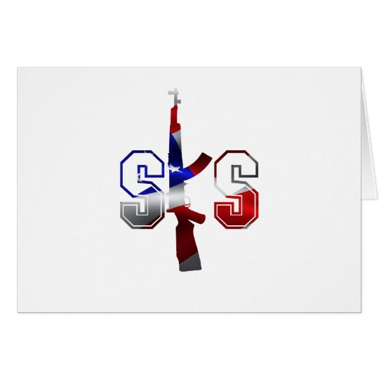 SKS Assault Rifle Logo Red White And Blue.png Card