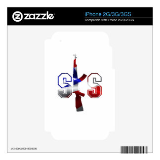 SKS Assault Rifle Logo Red White And Blue png iPhone 2G Decals