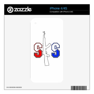 SKS Assault Rifle Logo RWB Stroked png Decals For The iPhone 4S