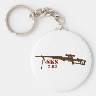 SKS Button Keychain
