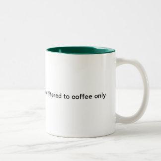 sku filtered coffee only Two-Tone coffee mug