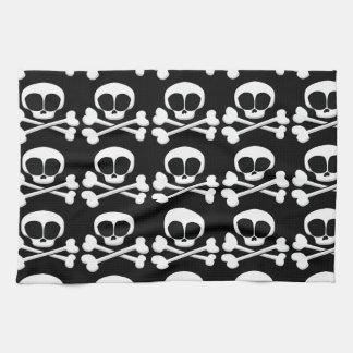 skull005_92007 SKULL CROSSBONES SYMBOL GANGSTER EM Hand Towel