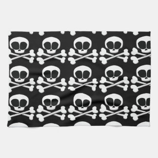 skull005_92007 SKULL CROSSBONES SYMBOL GANGSTER EM Towel