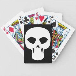 skull009_92007 NARROW THIN HUMAN SKULL GANG TOUGH Bicycle Playing Cards