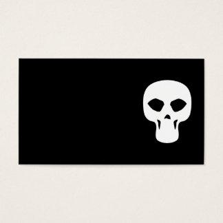 skull009_92007 NARROW THIN HUMAN SKULL GANG TOUGH Business Card