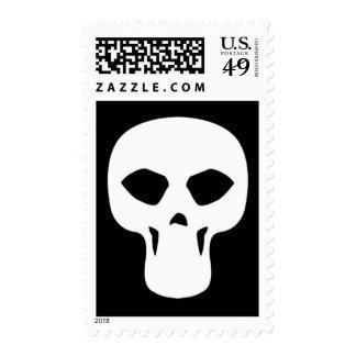 skull009_92007 NARROW THIN HUMAN SKULL GANG TOUGH Postage Stamp