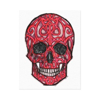 skull02 wrapped canvas