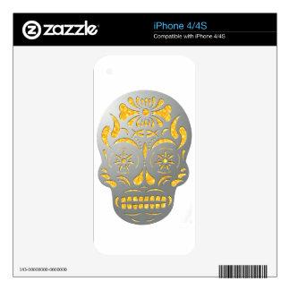 Skull1MetalFire iPhone 4S Skins