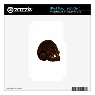 skull2 iPod touch 4G decal