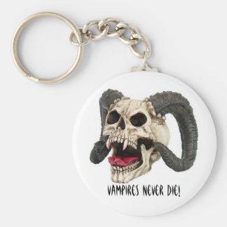 skull800, Vampires Never Die! Basic Round Button Keychain