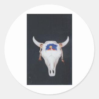 skull 001 classic round sticker