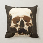 Skull 001 throw pillow