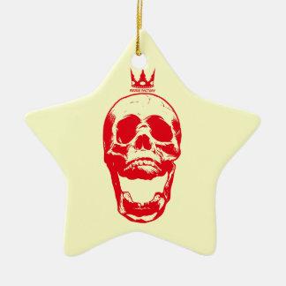 Skull 02 (red) ceramic ornament