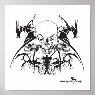 skull 0963, logo print