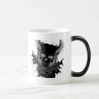 skull 11 oz magic heat Color-Changing coffee mug