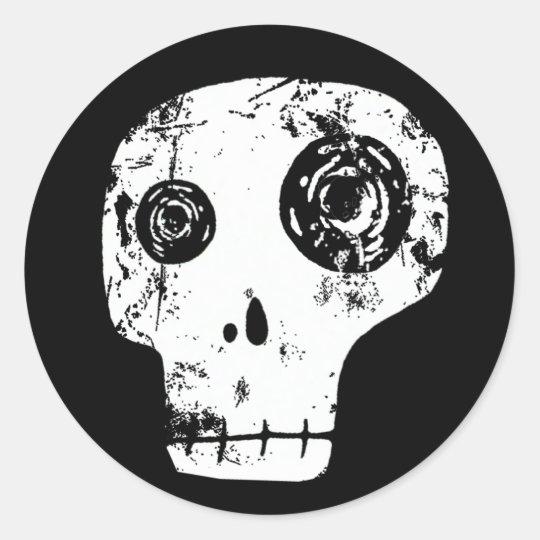Skull 13 classic round sticker