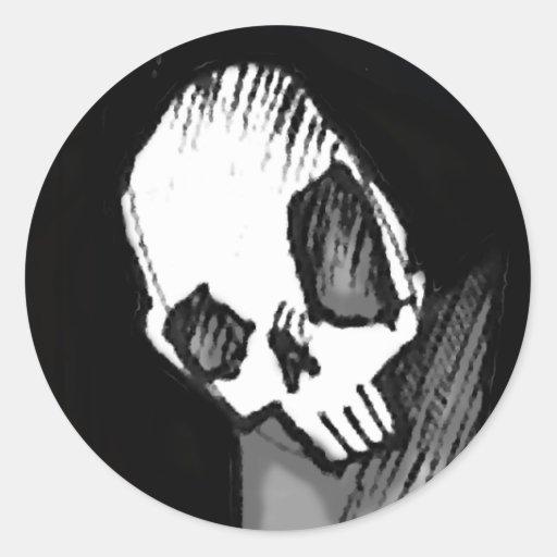 Skull 14 round sticker