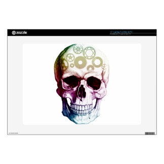 "skull 15"" laptop decal"