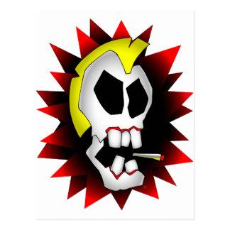 skull-1 que fuma postal