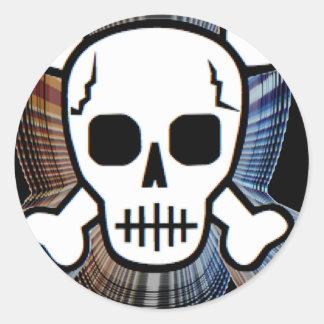 Skull 2 classic round sticker