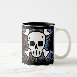 Skull 2 Two-Tone coffee mug