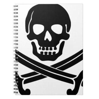 skull-307778  skull swords crossed black coat of a notebook