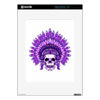 Skull 3 decal for iPad