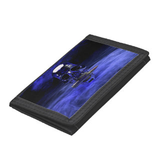skull-682973 SKULL NUCLEAR WEAPONS WAR DARK CAUSES Trifold Wallets