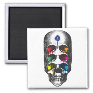 Skull 6 Eyes drips Fridge Magnets