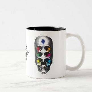 Skull 6 Eyes drips Two-Tone Coffee Mug