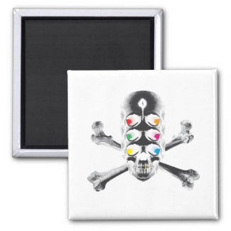 Skull 6 Eyes negative Magnet