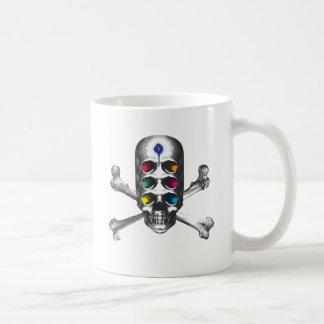 Skull 6 Eyes Pirate Classic White Coffee Mug