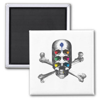 Skull 6 Eyes Pirate Fridge Magnets