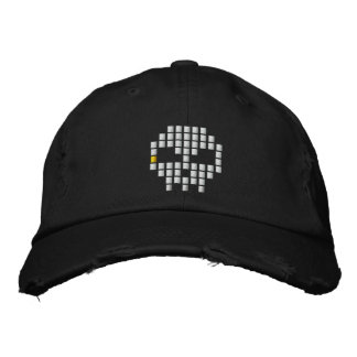 Skull 8 - Bit Embroidered Baseball Hat