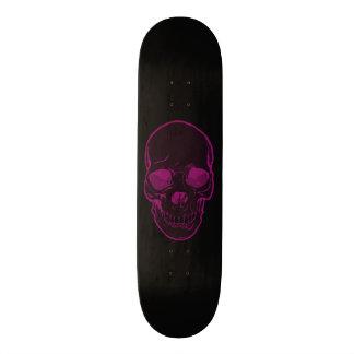 Skull Abstract Graphics Girls Pink & Black Skateboard Deck