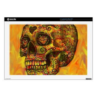 Skull, abstract,orange laptop decal