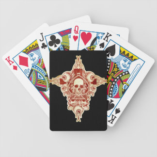 Skull ace of spades bicycle playing cards