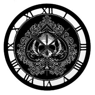 Skull Ace Of Spades Large Clock