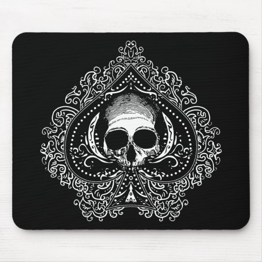 Skull Ace of Spades Mouse Pad