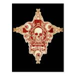 Skull ace of spades postcard