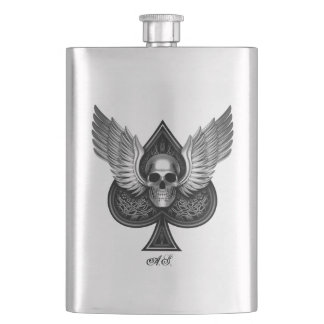 Skull Ace of Spades Stainless Steel flask