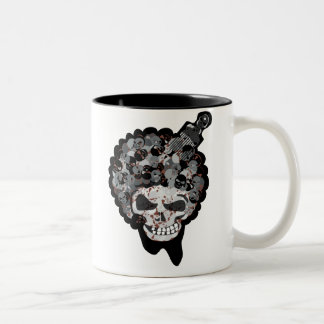 SKULL AFRO 2 Two-Tone COFFEE MUG