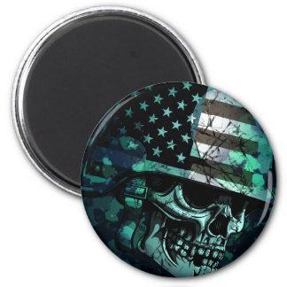 Skull America Soldier Dead Zombie Magnet